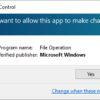 Windows UAC alert