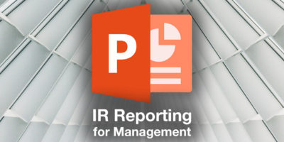 IR Reporting for Management PPT template
