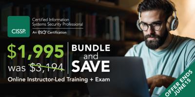 Save almost 50% on CISSP training