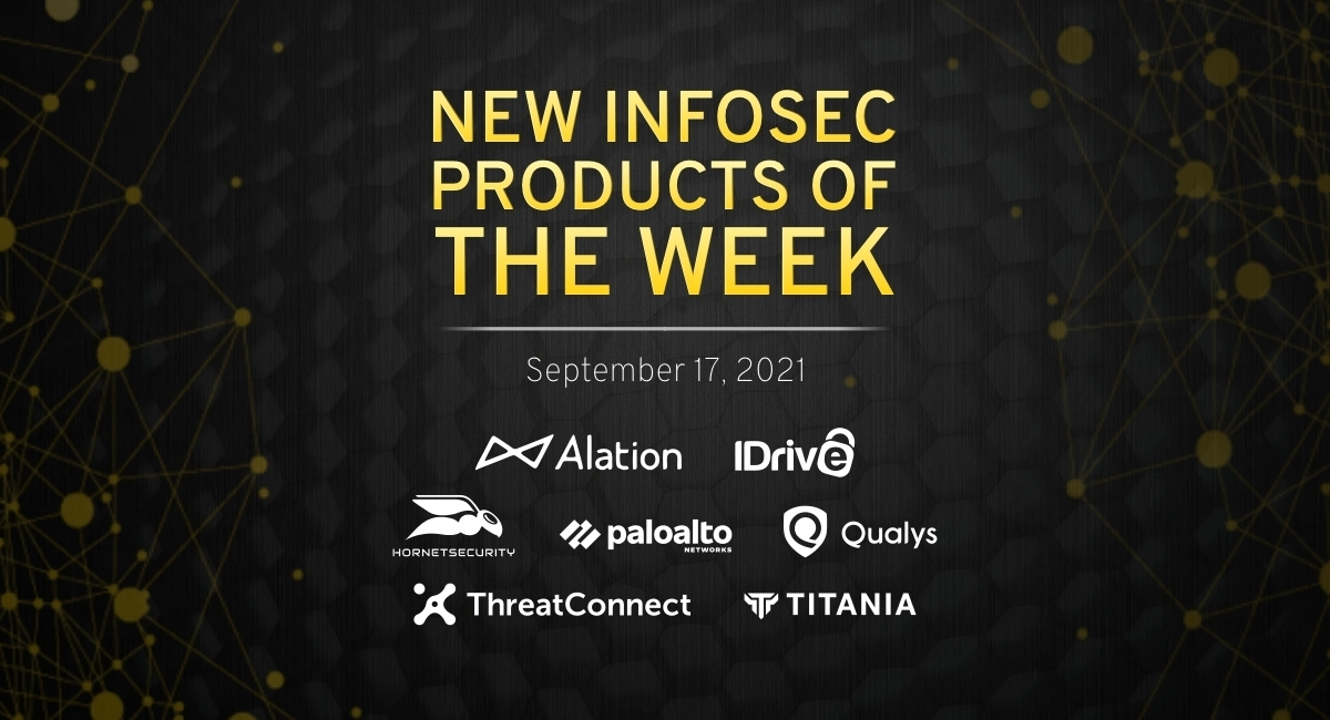 New infosec products of the week: September 17, 2021